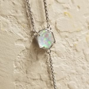 Kendra Scott Jewelry - NWT WHITE KYOCERA OPAL ILLUSION Y NECKLACE SILVER